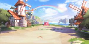 QQ飞车手游反向彩虹风车岛怎么跑最快?反向彩虹风车岛赛道捷径推荐图片1