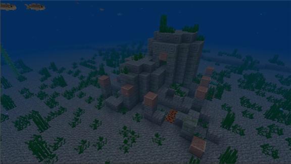 我的世界全新水下地图曝光:一起来探索水下遗迹海底世界[多图]图片1