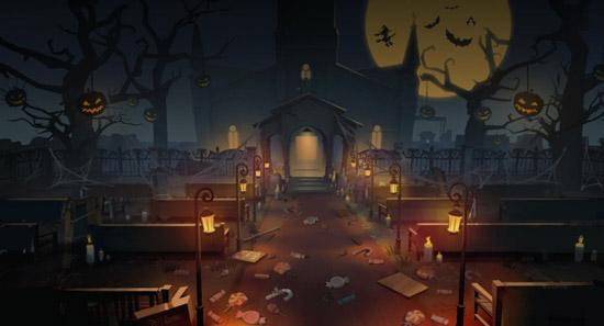 第五人格红教堂地图装修:迎接万圣节,幽灵灯首度亮相[多图]图片3