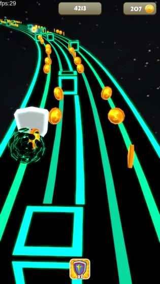 太空节奏球手机游戏官网下载最新版(Space Rush)图1: