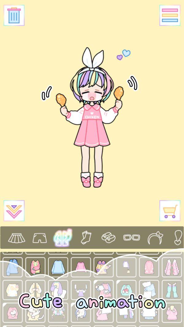 粉彩女孩Pastel Girl1.2.3免费道具内购修改版图3: