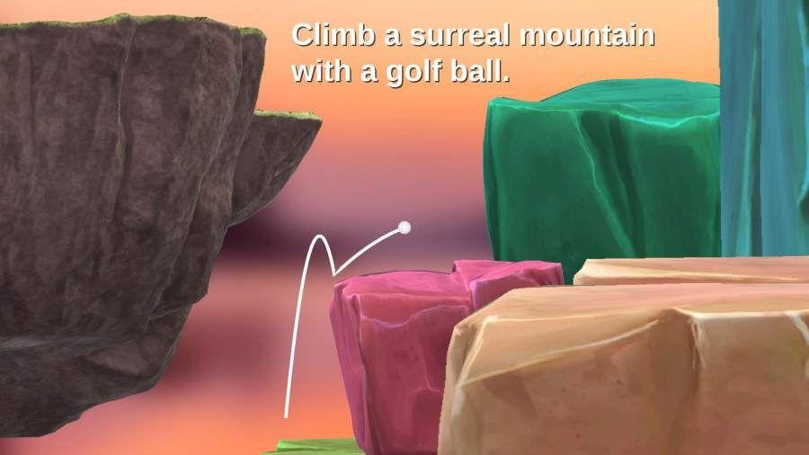 高尔夫求升中文汉化版最新手机下载(Golfing Over It with Alva Majo)图5:
