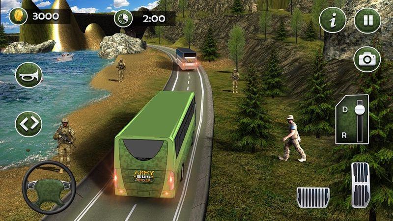 军队巴士模拟器2018手机游戏最新版下载图2: