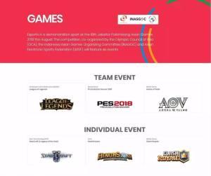 《英雄联盟》《炉石传说》等六款游戏入选雅加达亚运会电子体育表演项目图片1