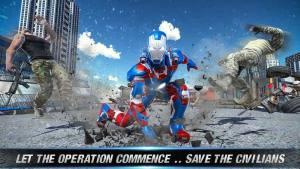 飞行救援英雄上尉机器人美国图3