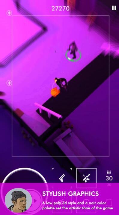 Neon Noir IOS中文版下载无限弹药修改版游戏图1: