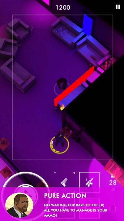 Neon Noir IOS中文版下载无限弹药修改版游戏图3: