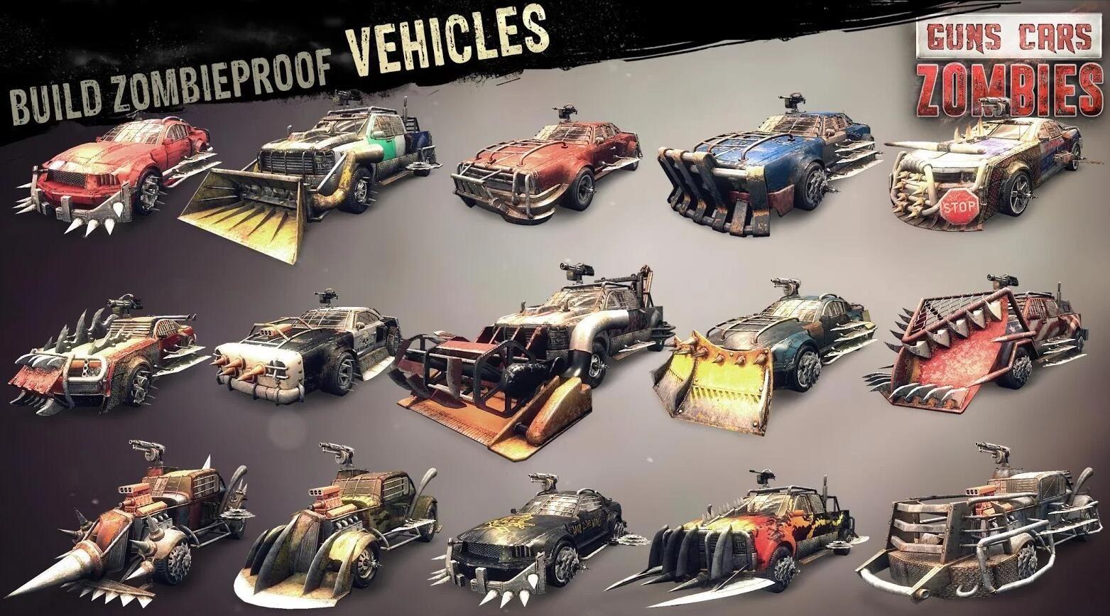 僵尸碾压者安卓官方版游戏下载(Guns Cars and Zombies)图3: