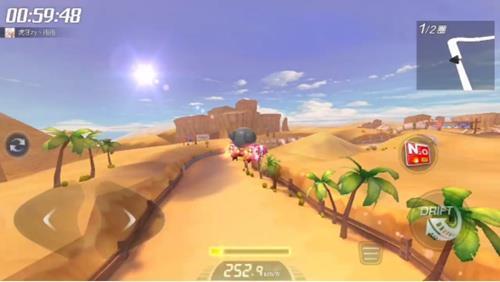 跑跑卡丁车手游旋转工地怎么跑?沙漠旋转工地赛道难点、捷径一览[视频][多图]图片2
