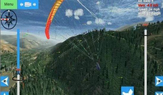 滑翔伞模拟器中文破解手机版下载(Glider Sim)图2: