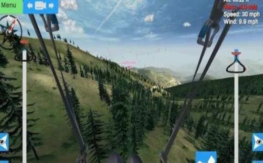 滑翔伞模拟器中文破解手机版下载(Glider Sim)图3: