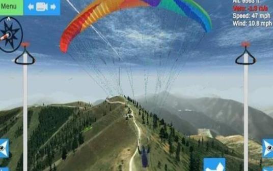 滑翔伞模拟器中文破解手机版下载(Glider Sim)图4: