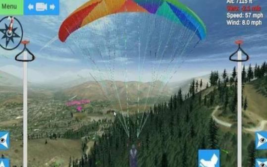 滑翔伞模拟器中文破解手机版下载(Glider Sim)图1:
