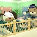 小逃生熊沙发的房间游戏