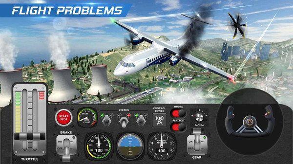 飞机飞行员模拟器游戏中文完整版下载图4: