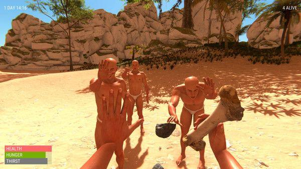 一群光头佬在荒岛上的爆笑生存之旅游戏手机版图1: