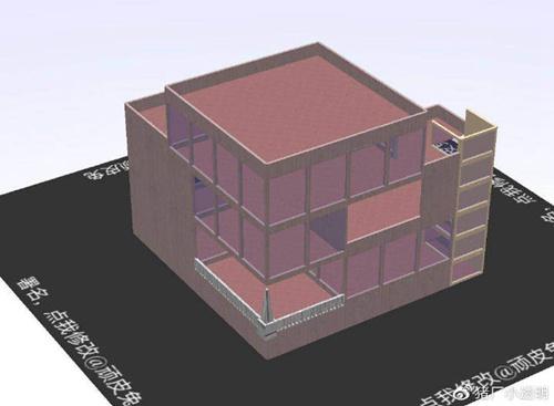 明日之后落地窗别墅设计蓝图:豪华落地窗房子平面设计图图片8