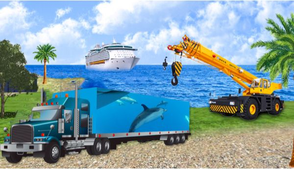 海洋动物货运车模拟器游戏最新版官方下载图2: