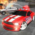 疯狂的消防员司机游戏