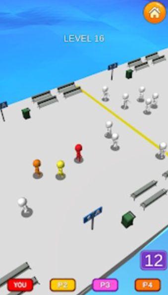 人群逃生3D游戏破解版无限金币下载图片1