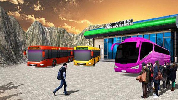 公共汽车司机模拟器山丘游戏中文版最新下载图5: