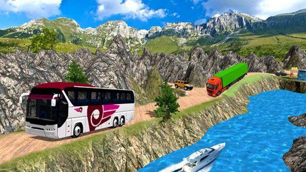 公共汽车司机模拟器山丘游戏中文版最新下载图1: