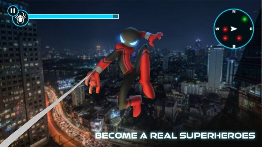 蜘蛛英雄火柴人战士内购最新修改版下载图片1