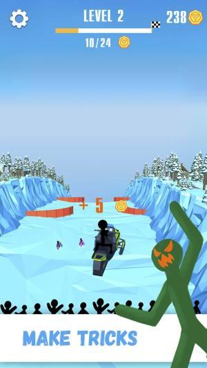火柴人雪橇赛破解版图3