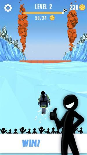 火柴人雪橇赛破解版图1