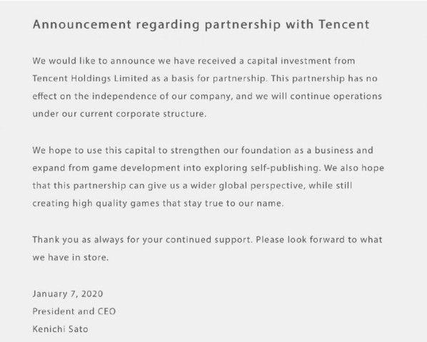 白金工作室宣布获得腾讯投资,投资不影响工作室的独立性[视频][多图]图片2