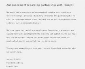 白金工作室宣布获得腾讯投资,投资不影响工作室的独立性图片2