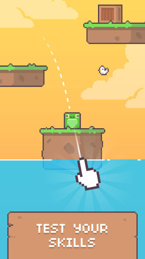绿脸方块弹跳小游戏图3