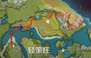 原神送餐任务第五天任务攻略:第五天送餐任务路线图图片2