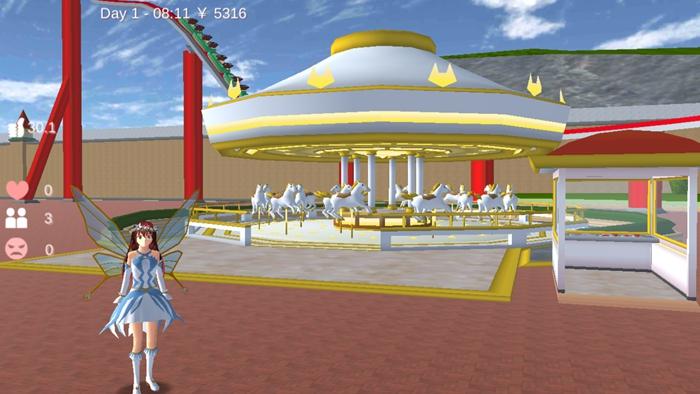 樱花校园模拟器1.038.00仙子衣服版本下载最新版圣诞节图1: