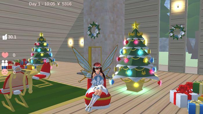 樱花校园模拟器1.038.00仙子衣服版本下载最新版圣诞节图片1