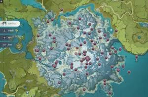 原神绯红玉髓一共有多少个?80个绯红玉髓位置坐标大全图片1