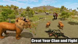 野狮VS恐龙模拟游戏图2