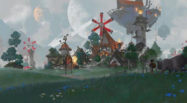 腾讯代号N游戏场景截图:新手村灵泉镇一览[多图]图片2