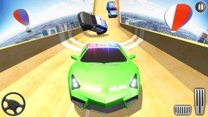 警车巨型坡道特技3D游戏图1