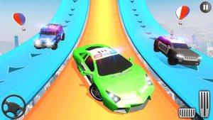 警车巨型坡道特技3D游戏图2
