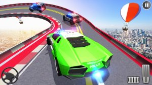警车巨型坡道特技3D游戏图3