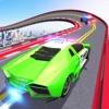 警车巨型坡道特技3D游戏