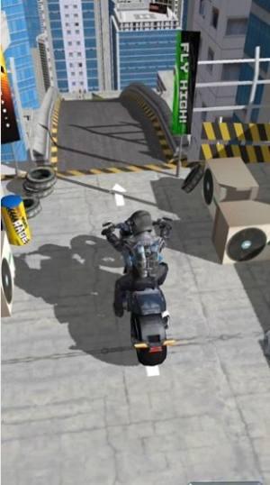 疯狂摩托飞跃城市游戏图1