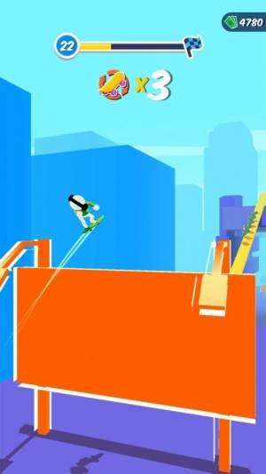 火柴人滑板英雄3D破解版图1