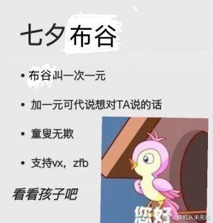 七夕布谷麻雀表情包图3