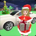 圣诞圣诞老人女孩开车游戏