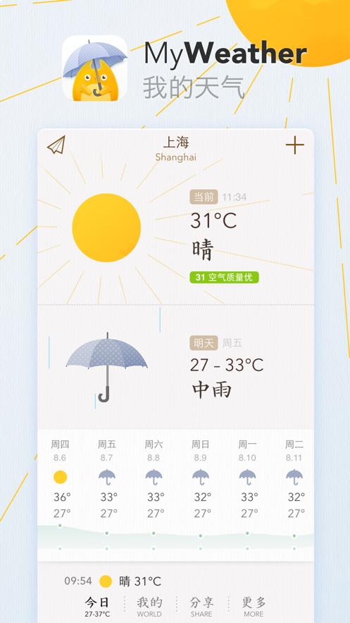 我的天气iOS14小组件app更新下载图3:
