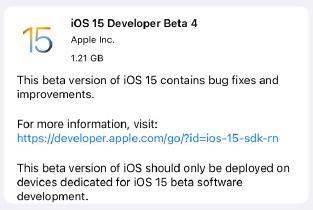 ios15beta4更新了什么?苹果ios15 beta4更新内容一览[多图]图片1