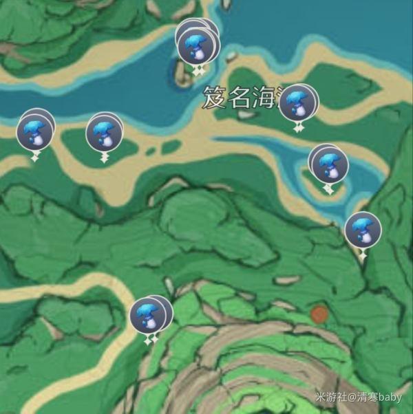 原神鹤观岛幽灯蕈位置大全:2.2版本幽灯蕈位置分布图[多图]图片1