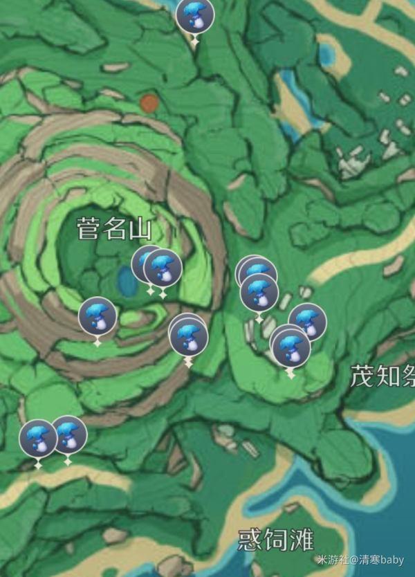 原神鹤观岛幽灯蕈位置大全:2.2版本幽灯蕈位置分布图[多图]图片3